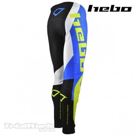 Pantalón Trial Hebo PRO 20 azul y amarillo