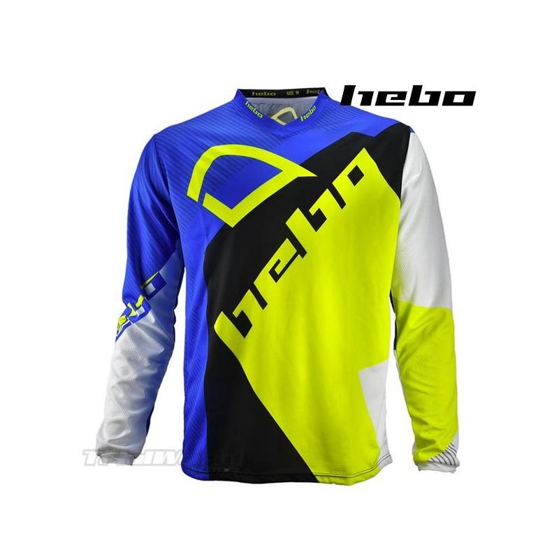 Camiseta Trial Hebo PRO 20 azul y amarillo