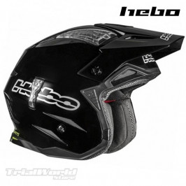 Casco trial Hebo Zone 4 Black monocolor