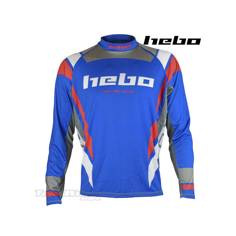 Camiseta Trial Hebo Race PRO IV azul