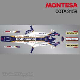 Kit adhesivos Montesa Cota 315R Rothmans Edition