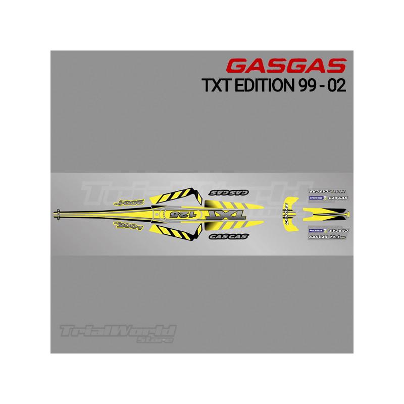 Kit adhesivos GasGas TXT Edition 1999 a 2002 amarillo