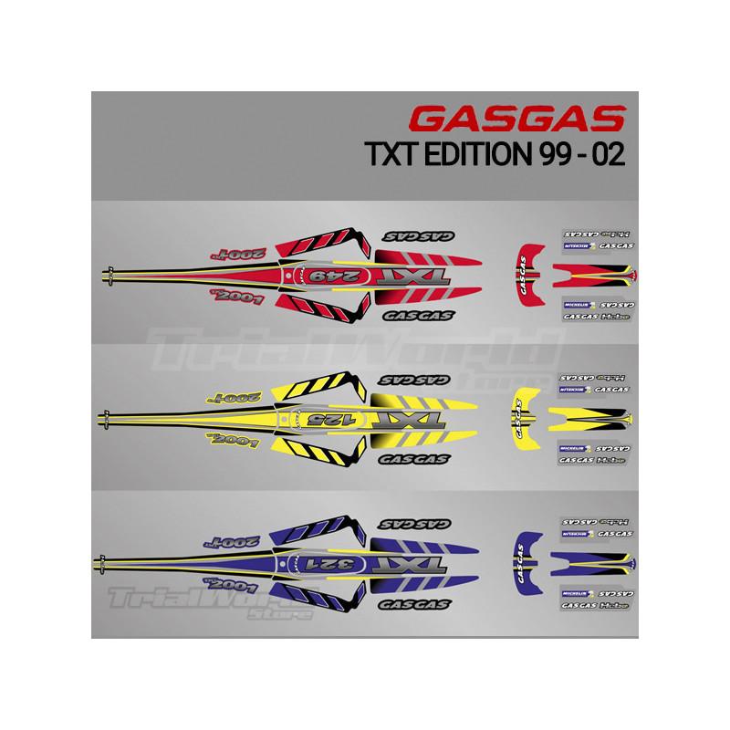 Kit adhesivos GasGas TXT Edition 1999 a 2002