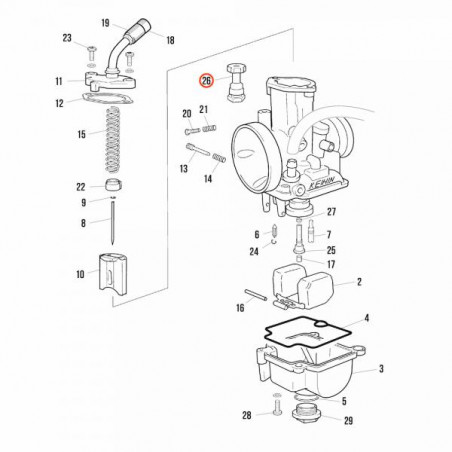 Choke starter valve Keihin PWK 28mm