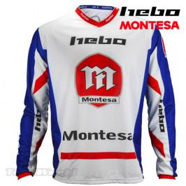 Camiseta Trial Hebo Montesa Classic azul