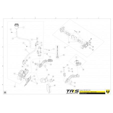 Glacier pedal de freno TRRS One y RR hasta 2019