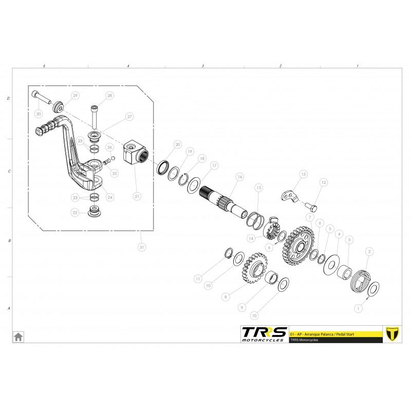 TRS washer internal kick start 25X14X0.5