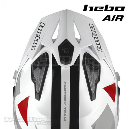 Casco Trial Hebo Zone 5 AIR H-Type White