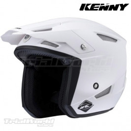 Casco Kenny racing trial UP blanco