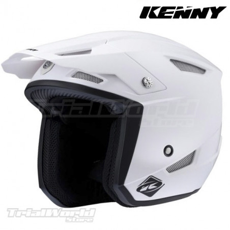Casco Kenny racing trial UP blanco