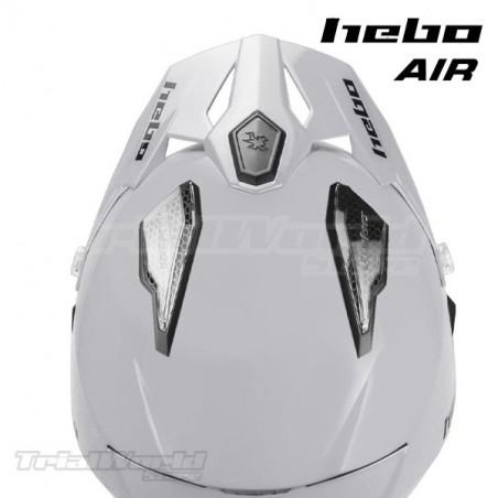 Casco Trial Hebo Zone 5 AIR blanco monocolor