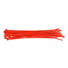Pack de bridas de plástico rojas medianas x 100