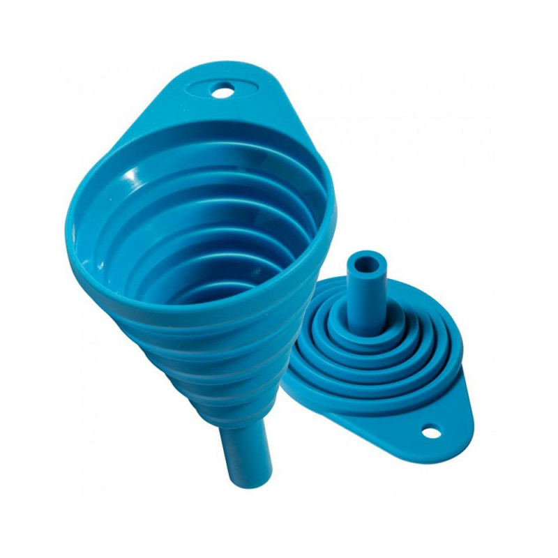 Silicone collapsible petrol funnel