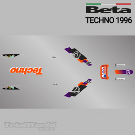 Kit adhesivos Beta Techno 1996 naranja