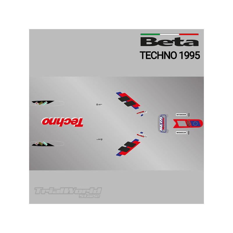 Kit adhesivos Beta Techno 1995 azul
