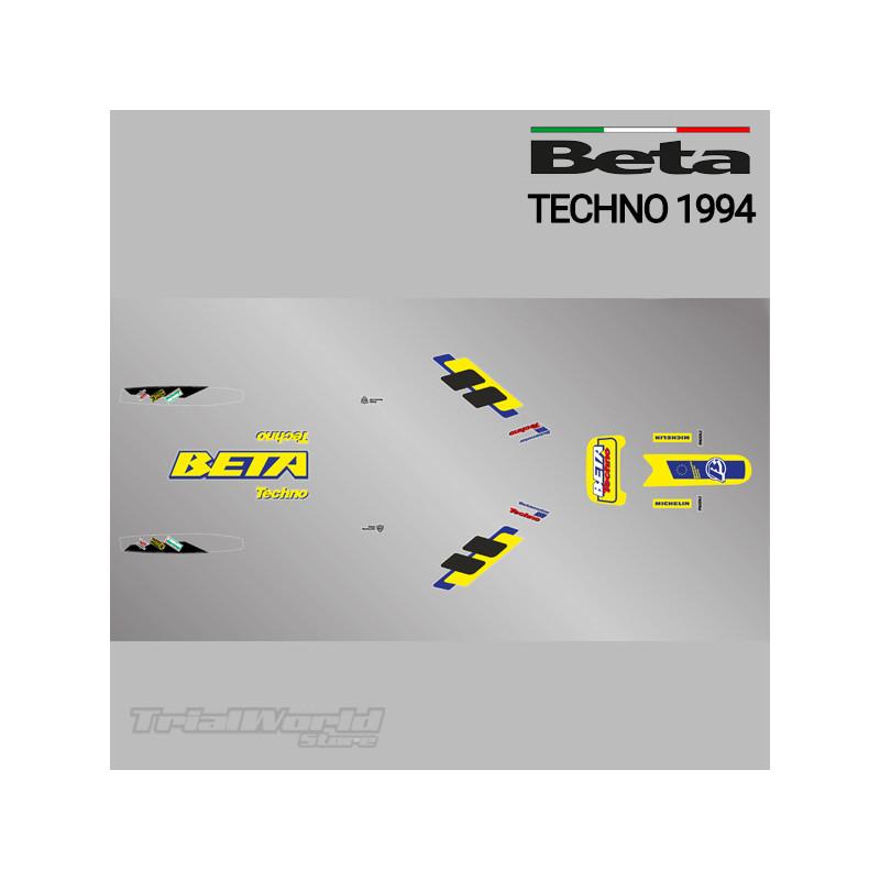 Kit adhesivos Beta Techno 1994 amarilla