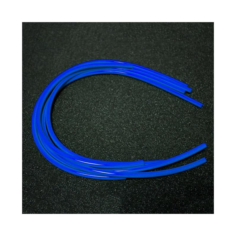 Tubos sobrantes macarrón gasolina azules