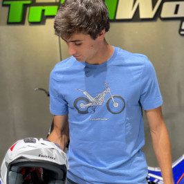 Camiseta Trial casual Paddock azul