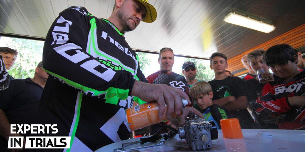 carburacion moto trial