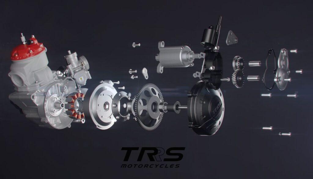 motor TRS Motorcycles arranque electrico