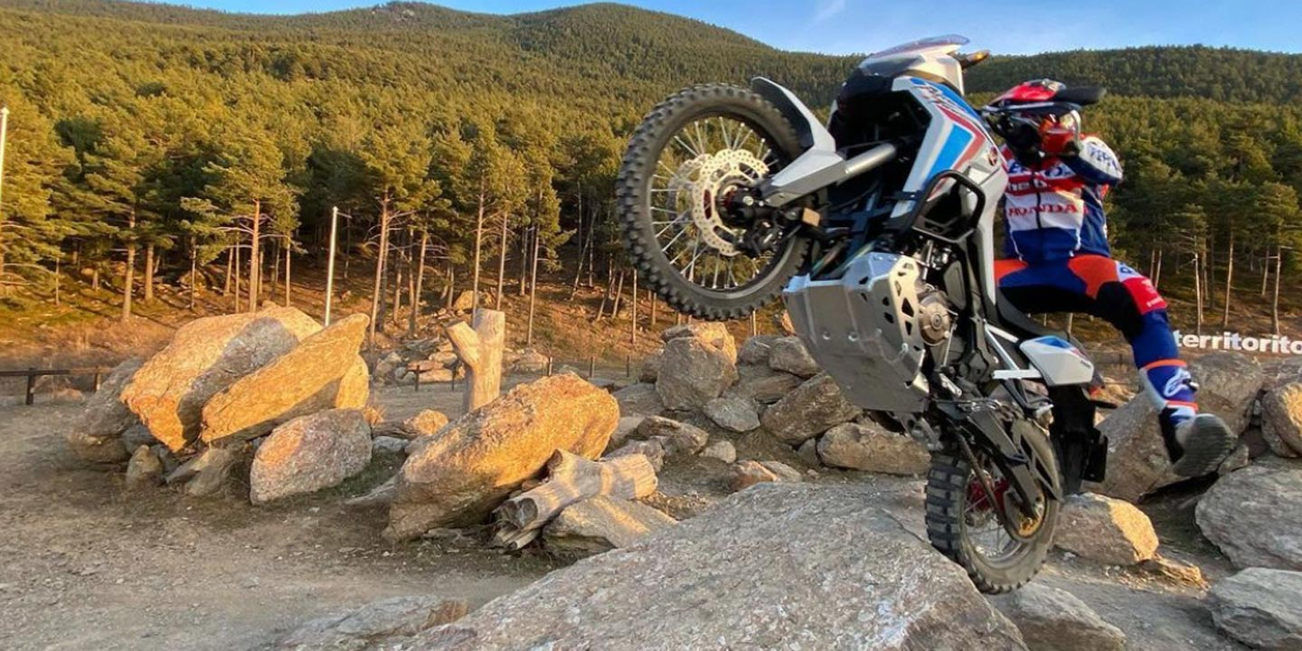 VIDEO | Toni Bou haciendo trial con una Honda Africa Twin de 238 kgs