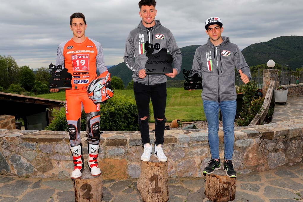 podium dos dias camprodon trial 2021