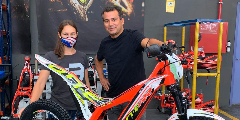 Acuerdo entre TRS Motorcycles y la escuela de trial de Maria Giró